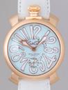ガガミラノ コピー腕時計 通販後払いマニュアル48mm 手巻き 5011.3 ホワイト皮 ライトブルーマット