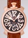 ガガミラノ腕時計コピー専門店代引き新作マニュアル48mm 手巻き 5011.7 ブラウン皮 グレー