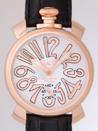 ガガミラノ 時計 コピー 代引き専門店安全 マニュアル48mm 手巻き 5011.8 ブラック皮 ホワイト