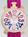 ガガミラノ コピー腕時計 安全代引き日本マニュアル48mm 手巻き 5011.9 チェリー皮 シルバー