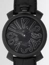 ガガミラノ コピー腕時計 n級口コミ マニュアル48mm 手巻き 5012.2 ブラック皮 ブラックマット