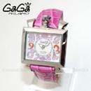 GaGa MILANO (ガガミラノ)  ピンク レザー/ホワイトシェル/シルバー 6030.6