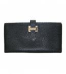 財布 コピー エルメスベアンスフレ(二つ折り長財布)シェーブル/ブラックHER-069