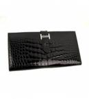 財布 コピー エルメスベアン二つ折長財布アリゲーター/ブラック HER-061