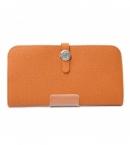 偽物財布  エルメスドゴン ロング オレンジ トゴ HER-003 商品届いた