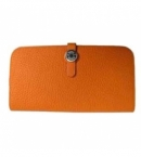 財布 コピー エルメスニュードゴン トゴ/オレンジHER-024