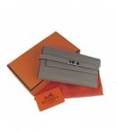 代引きできる店財布 コピー エルメス ケリーウォレット グレー HR12023
