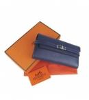 コピー エルメス財布代引き可能ケリーウォレット ダークブルー HR12031
