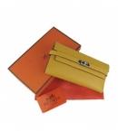 エルメス ブランドコピー 代引き財布 通販信用できるケリーウォレット イエロー HR12033