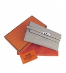 エルメス 財布 コピー通販おすすめケリーウォレット グレー HR12037