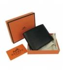 財布 コピー エルメスブランド コンパクト 二つ折り財布トリヨンクレマンス ブラックHR15335