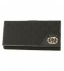 スーパーコピー グッチ財布 通販信用できるニューブリット GG柄 長財布 ブラック 181593FFPAG1000