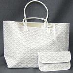 ゴヤール スーパーコピー 代引き サンルイPMトートバッグ白 ホワイト 通販人気