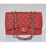 chanel コピー品 ECS009209 安全なサイト赤い 女性 ショルダーバッグ シャネルボール紋