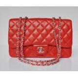 格安ばれない chanel コピーバッグ女性 ショルダーバッグ ECS009211 赤い シャネル羊革