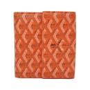 ゴヤール 財布 コピーばれない おすすめ 二つ折り財布 Wホック オレンジ GOYARD-109