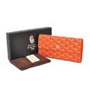 ゴヤール 三つ折り長財布 ホック オレンジGOYARD-089