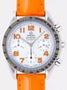 3834.78.38オメガ スピードマスター オレンジ皮 ホワイトシェルオレンジアラビア