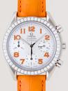 3835.78.38オメガ スピードマスター オレンジ皮 ホワイトシェルオレンジアラビア