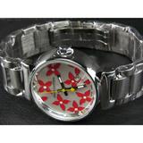 ルイヴィトン   時計赤×白文字盤女性用LV-008