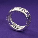 ブルガリ 偽物 代引き パレンテシ オープンワーク スモールバンド リング(指輪) ホワイトゴールド AN853984