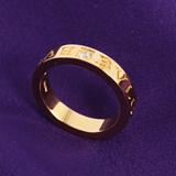 ブルガリ 通販代引きダイヤモンド ダブルロゴリング【指輪】 イエローゴールド AN854462