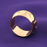 ブルガリ 偽物アクセサリー代引き口コミモノロゴ リング(指輪) イエローゴールド AN854529