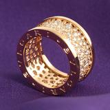 ブルガリ スーパーブランドコピー 代引きビーゼロワン パヴェダイヤ リング(指輪) ピンクゴールド AN855553