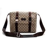 男性 ショルダーバッグ Gucci PVC 122373PVC ブラウン GUCCIグッチ