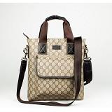 ブラウン Gucci PVC GUCCIグッチ 298503PVC 男性 ハンドバッグ メッセンジャーバッグ