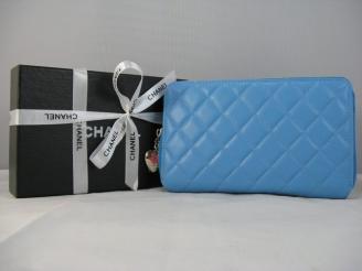 ブルー CHANELシャネル 女性 中財布 シャネル スーパーコピーブランド財布代引き口コミ 羊革 46578