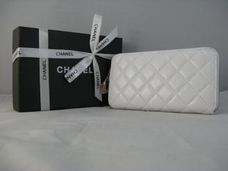 女性 中財布 46579 CHANELシャネル 白い シャネル羊革 偽物財布代引き対応安全
