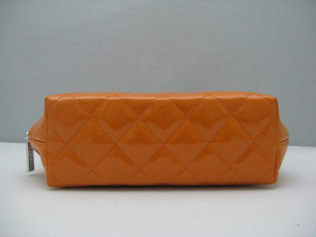 オレンジ CHANELシャネル 48700 シャネルエナメル 女性 クラッチバッグ 女性財布