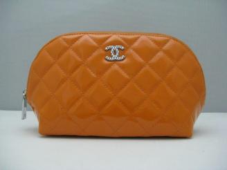 オレンジ chanel コピーポーチ48700 シャネルエナメル 女性 クラッチバッグ 女性財布