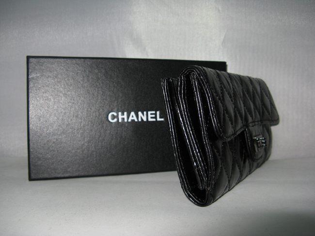 シャネル羊革 CHANELシャネル 50140 ブラック 女性 長財布