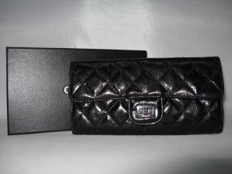 シャネル コピーブランド 代引き通販後払い羊革 CHANEL 50140 ブラック 女性 長財布