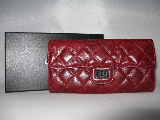 赤い 女性 長財布 50140 CHANELシャネル シャネル羊革
