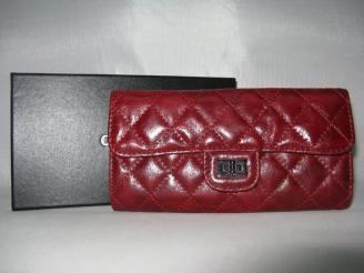 chanel コピー品赤い 女性 長財布 50140 羊革 サイト届く