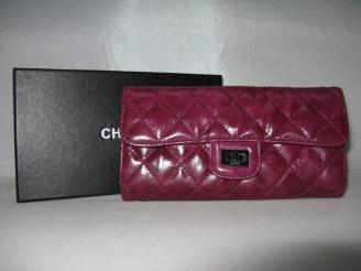 chanel コピー通販羊革 おすすめ 後払い 50140 女性 長財布 CHANELシャネル 紫