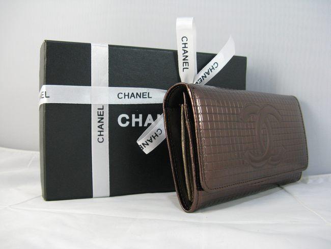 女性 クラッチ財布 91764 カーキ シャネルエナメル CHANELシャネル