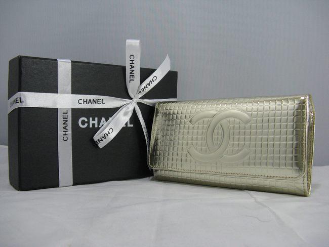 CHANELシャネル シャネルエナメル 女性 クラッチ財布 91764 黄色