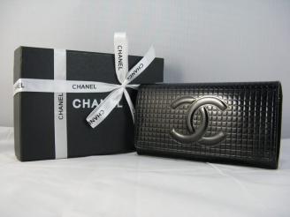 安全販売 91764 ブラック シャネルエナメル chanelコピー財布 女性 クラッチ財布