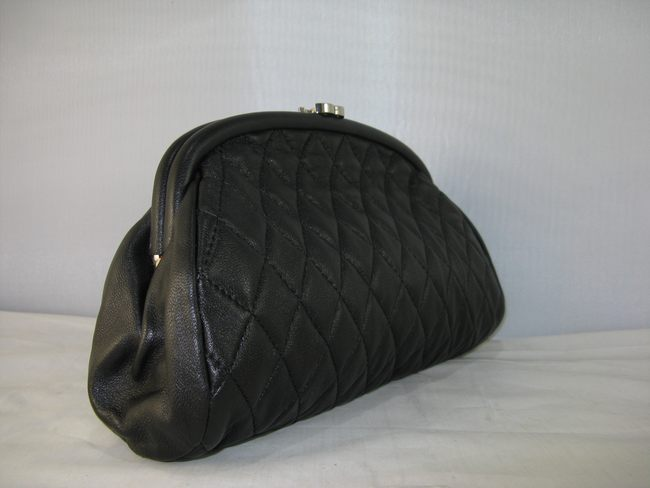 シャネル羊革 ブラック CHANELシャネル 351178 女性 クラッチ財布 宴会財布
