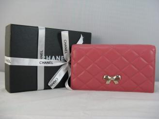 CHANELシャネル 37275 赤い 女性 長財布 シャネル羊革