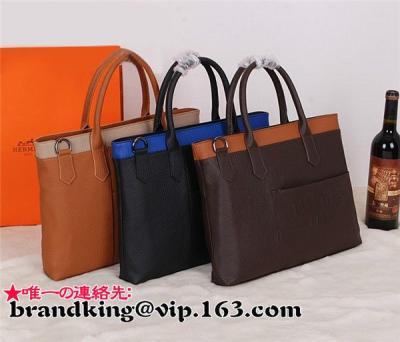 Hermes 本革 ビジネスバッグ 紳士鞄 牛革 ブランドバッグコピー代引き対応安全