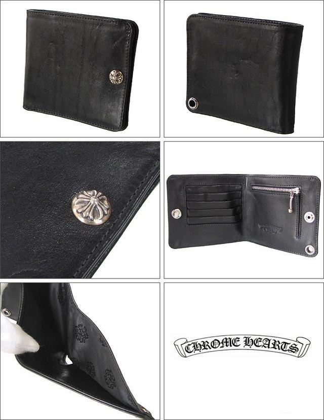 品番:cr0214クロムハーツ 財布 ウォレット 二つ折財布 ワンスナ