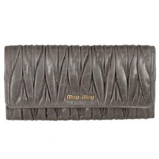 ミュウミュウ 財布 コピー MATELASSE LUX二つ折り長財布 5M1109 QI9 F0031 安全なサイト