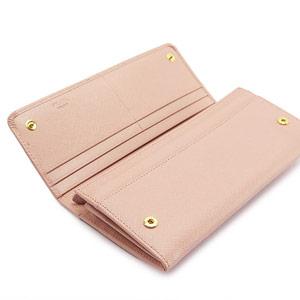 プラダ 長財布 財布 PRADA プラダ 二つ折り リボンモチーフ 型押しレザー オーキッド 1M1132 SAF FIO ORCHIDEA/ZTM F0615