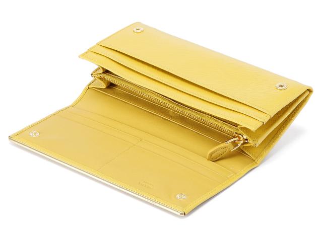 プラダ 2013年春夏新作SAFFIANO VERNICEメタルロゴデザイン 二つ折り長財布 1M1132 2A16 F065Y