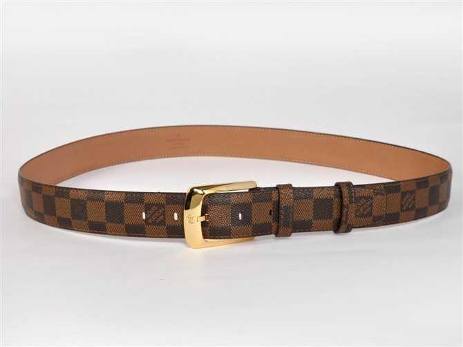 ダミエ 男性女性 ユニセックス ベルト ルイ·ヴィトン Louis Vuitton N3002 ブラウン